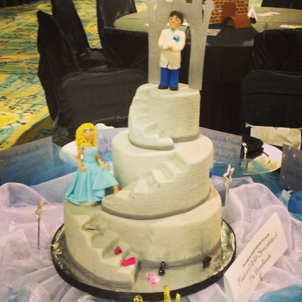 Decorative Cinderella cake for the Medevial themed ball.
